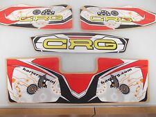 CRG KART FRONT BUMPER DECALS GRAPHICS SHIFTER RACE RACING TAG STICKER GO KART