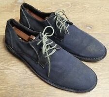 👞ROGUE Navy Blue Suede Leather Oxfords Hipster Casual Shoes Mens SZ 9