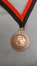 Winter Classic Soccer Tournament silver soccer ball medal with red/black drape
