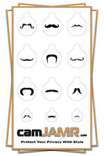 Webcam Cover - 3 PACK - Compatible With Multiple Devices (Mustache Pack)