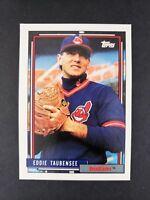 1992 Topps Eddie Taubensee Cleveland Indians Rookie NN & NoBio 427 Baseball Card