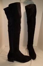 NEW WOMEN'S VAGABOND GIGI LOW HEEL OVER THE KNEE BLACK SUEDE BOOTS US 11 EUR 41