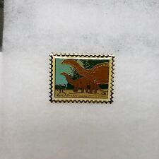 Us Postal Service 25 Cent Stamp Brontosaurus Dinosaur Pin