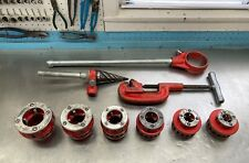 New Listingrigid Ratchet Pipe Threader With 6 Die Heads 4 Extra 12 2 Reamer Amp Cutter