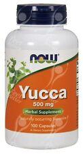 Now Foods, YUCCA 500mg x100caps Cápsulas - Mismo Día Envío antes de 2pm