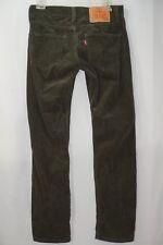 Men's Levi 511 Sim Fit Green Corduroy Jeans 28x30