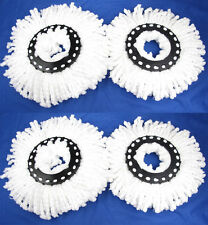 4 Replacement Mop Micro fiber Head Refill For 360° Clean Spin Magic Mop Head NEW