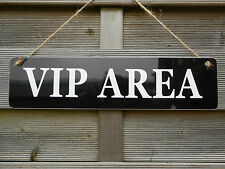 VIP AREA HOME BAR SIGN BBQ BEER GARDEN PARTY PUB DAD SHED FATHERS DAY GIFT NEW!!