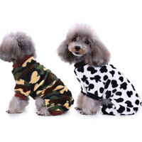 CW_ KF_ Cute Winter Fleece Dog Jumpsuit Warm Pet Pajamas Puppy Cat Clothes Costu