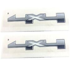 2x OEM 4 X 4 Door Emblem Badge 4x4 Nameplate 3D GM Silverado Sierra Chrome
