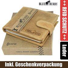 Señores monedero RFID protección marrón claro horizontal monedero 14 tarjetas asignaturas