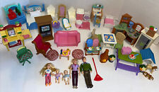 FISHER PRICE LOVING FAMILY Lot Figures Furniture Accessories Mom Dad Twins Sis
