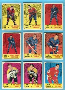 1967-68 Topps Starter Set Lot of 18 Different Hockey Cards EX - EX+