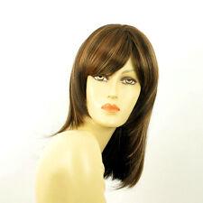 mid length wig for women chocolate copper wick clear ref: TAMARA 627c PERUK