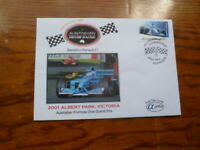 2004 ALPHA FIRST DAY COVER RENAULT F1 MOTOR RACING STAMP