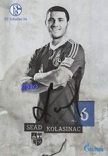 Sead KOLASINAC + FC Schalke 04 + Saison 2013/2014 + Original Autogrammkarte