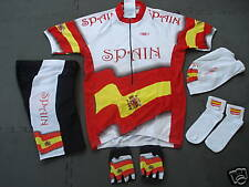 New SPAIN Team Cycling Set Flag Jersey Shorts size  S