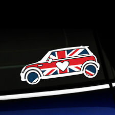 MINI Love - MINI Cooper Union Jack Heart Full Color Sticker