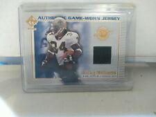 2002 Private Stock Game Worn Jerseys #68 Ricky Williams Jersey - NM-MT