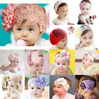 New Baby Girl Infant Toddler Headband Bow Flower Headwear HairBand Elastic Decor