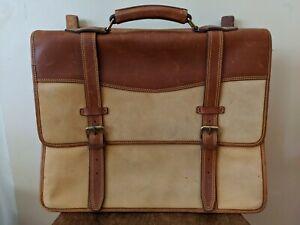 Vintage Timberland Leather Briefcase Messenger Bag