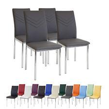 4 x Esszimmerstühle VERONA Grau Chrom Esszimmerstuhl Küchenstuhl Stuhl Stühle