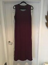 Next maxi dress 18 Sleevless Maroon Purple Lovely Back Detail