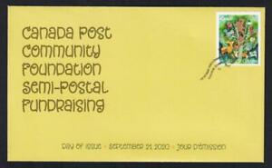 Canada limited edition private FDC, 2020 Community Foundation 'P' from booklet