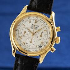 Zenith El Primero Chronograph 18K Gold Automatik Herrenuhr Ref. 06-0210-400