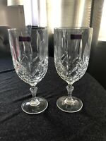 Set of 2 Waterford Marquis Markham 16oz Crystal Beverage Goblets .