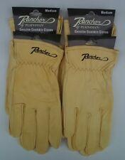 4 Pairs Plainsman RANCHER Goatskin Leather Wholesale Work Gloves MED. Free Ship