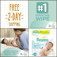 Pampers Baby Wipes Sensitive 9X Refill, 576 Count