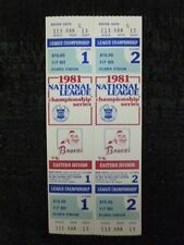 1981 National League Championship Series Tickets Game 1 & 2 Braves