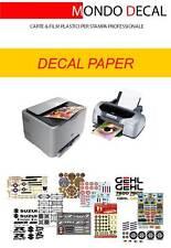 kit carta decalcomanie fondo trasparente: 6 fogli A4 (3 laser + 3 inkjet)