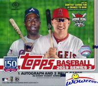 2019 Topps Series 2 Baseball HUGE Factory Sealed HOBBY JUMBO Box-3 AUTO/RELIC