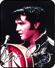 """79""""x96"""" Queen Size Elvis Presley '68 Special Mink Blanket Super Plush Fleece Gif"""