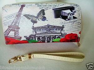Geldbörse ● PARIS & ROSES II ● Portmonnaie PORTEFEUILLE Wallet porte-monnaie