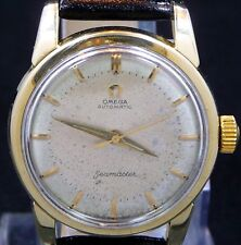 VINTAGE 1954 OMEGA AUTOMATIC SEAMASTER GOLD CAP S-STEEL WATCH SERVICE 501 2846