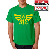 LEGEND of ZELDA T-SHIRT GREEN Triforce Logo Symbol Tshirt T Link Nintendo Shirt