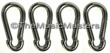 "(4) Stainless Steel 4"" Safety Spring Hook Boat Marine Rope Dock Line Chain Link"