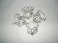 Home Interior Clear Fluted Votive Cups Set of Four
