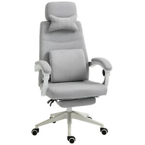 Polyester Ergonomic Neck & Back Support Home Office Chair Grey