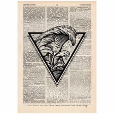 Triangle Wave Dictionary Print OOAK, Art, Travel, Unique, Gift,