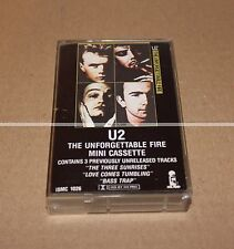 U2 UNFORGETTABLE AND FIRE - K7 PROMO - 3 INEDITS TRACKS -  COLLECTOR
