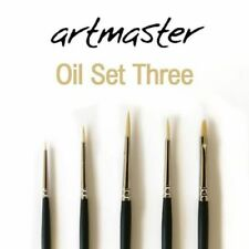 Artmaster Oil and Acrylic Paint Brush Set of 5 brushes
