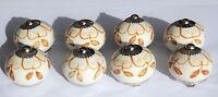 Ceramic Knobs Glass Pulls Handles for door drawer Cabinets Cupboard Wardrobe x8