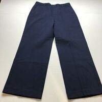 "Lauren Ralph Lauren Blue Wide Leg Dress Pants Size 10P 28"" Inseam A368"