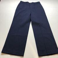 """Lauren Ralph Lauren Blue Wide Leg Dress Pants Size 10P 28"""" Inseam A368"""