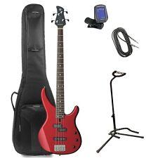 Yamaha TRBX174 Red Metallic 4-String Bass Guitar Value Pack