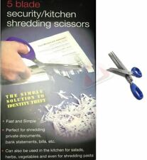 NUOVO 5 blade da cucina in acciaio inox di sicurezza TRITURATORE A FORBICE CARTA verdura